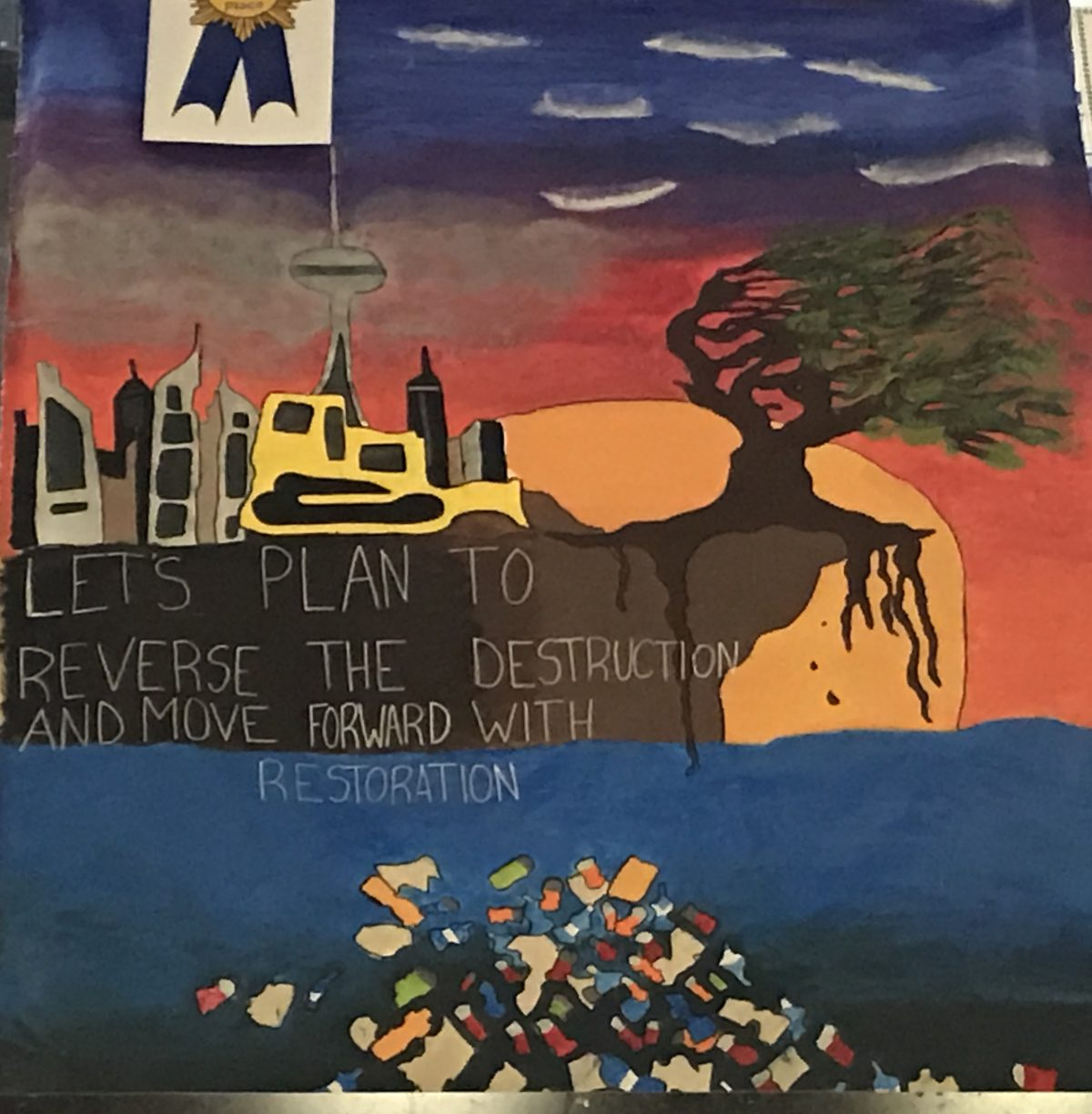 St. David's Eco Team Awarded 3rd Place in Vaughan's Earth Hour Banner Competition