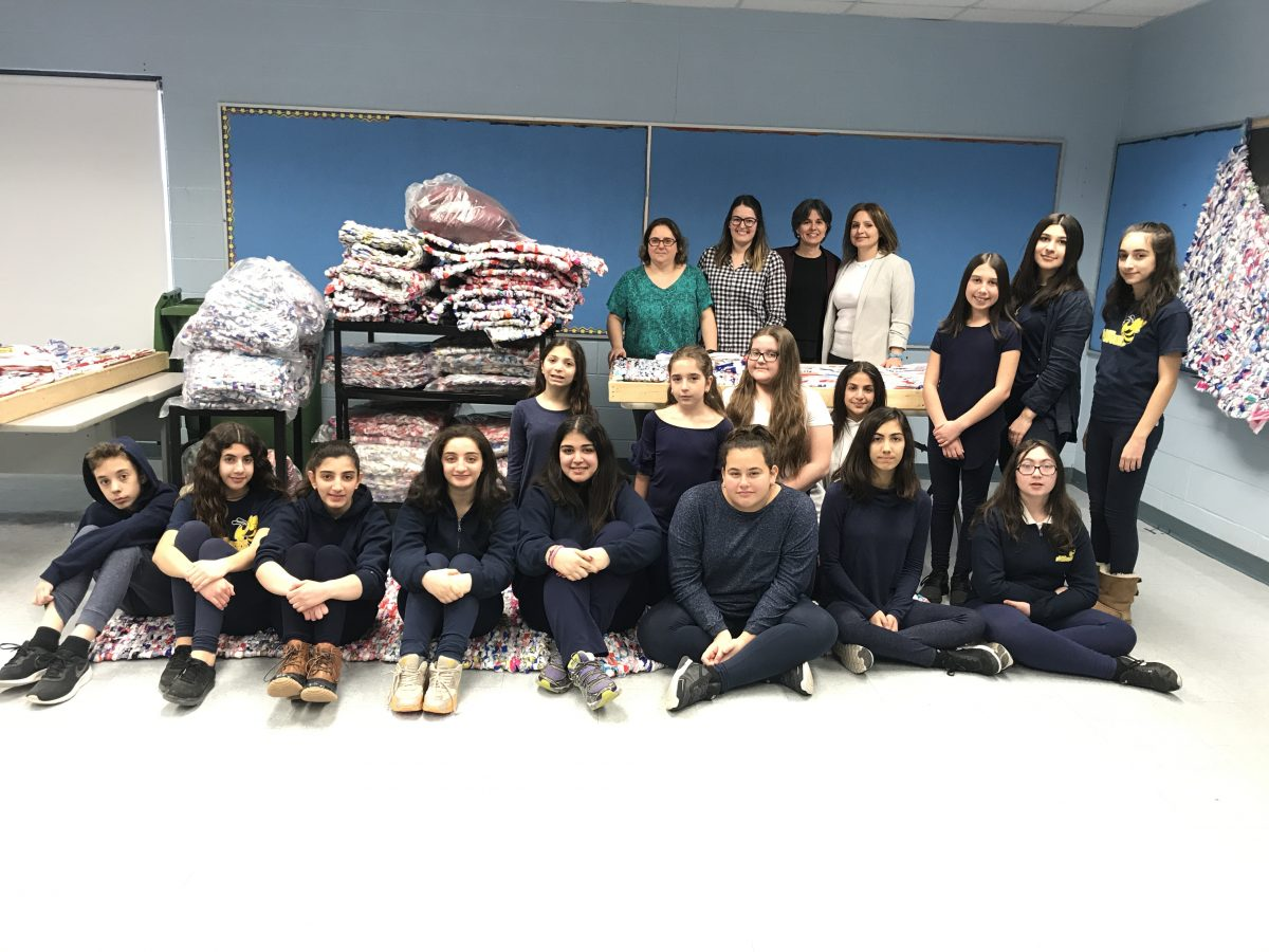 St. David's Milk Bag Program completes their 33rd Large Mat