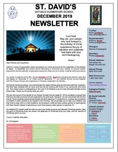 Our December Newsletter