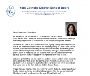 Trustee Cantisano's Christmas Message