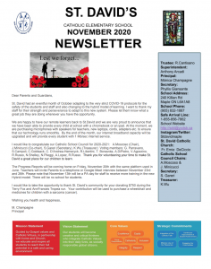 November Newsletter is Ready